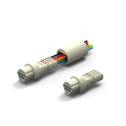 In Line Field Attachable Plastic Shell Connectors